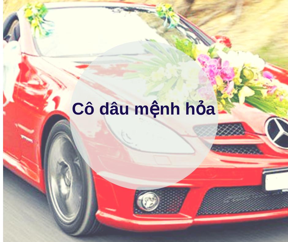 chon mau xe cuoi co dau menh hoa