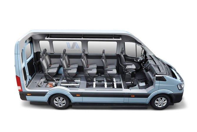 Nội thất xe 16 chỗ Hyundai Solati 2019